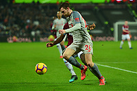 Andrew Robertson of Liverpool during West Ham United vs Liverpool, Premier League Football at The London Stadium on 4th February 2019