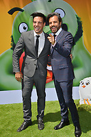 """LOS ANGELES, USA. August 10, 2019: Vadhir Derbez & Eugenio Derbez at the premiere of """"The Angry Birds Movie 2"""" at the Regency Village Theatre.<br /> Picture: Paul Smith/Featureflash"""