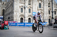 Larry Warbasse (USA/AG2R Citroën) finishing in front of the Duomo in Milan<br /> <br /> 104th Giro d'Italia 2021 (2.UWT)<br /> Stage 21 (final ITT) from Senago to Milan (30.3km)<br /> <br /> ©kramon
