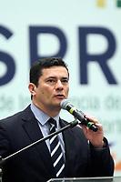 MANAUS (AM), 13.12.2019 - SÉRGIO MORO-MANAUS. O Ministro da justiça e segurança pública, Sérgio Moro, inaugurou o Centro Integrado de Inteligência e Segurança Pública Regional Norte (CIISPR), com sede nas dependências do Sistema de Proteção da Amazônia (Sipam), na tarde desta sexta-feira (13) em Manaus.<br /> Foto: Sandro Pereira/Codigo19