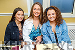 Presentation Secondary school Tralee students, Nora Scanlon (Castlegregory), Mary O'Connell (Tralee) and Leah Canty (Tralee) enjoying a meal in the Brogue Inn after receiving their Leaving Cert results.