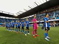SAN JOSE, CA - AUGUST 17: San Jose Earthquakes line up before a game between Minnesota United FC and San Jose Earthquakes at PayPal Park on August 17, 2021 in San Jose, California.