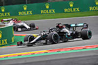 29th August 2020, Spa Francorhamps, Belgium, F1 Grand Prix of Belgium  qualification; 44 Lewis Hamilton GBR, Mercedes-AMG Petronas Formula One Team on his way to taking pole