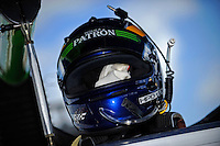 #1 (P2) Patron Highcroft Racing HPD ARX-01c, David Brabham, helmet detail