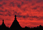 8.18.10 A fiery red sunrise over the Saratoga Main Track, could this be a prediction Devil May Care will win the Alabama?