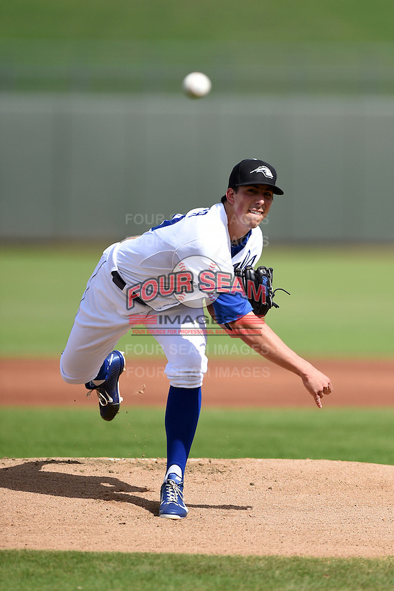 Peoria Javelinas pitcher Kyle Zimmer (29) during an Arizona Fall League game against the Scottsdale Scorpions on October 18, 2014 at Surprise Stadium in Surprise, Arizona.  Peoria defeated Scottsdale 4-3.  (Mike Janes/Four Seam Images)