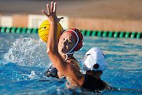 10 May 2008:  Stanford Cardinal Allie Gerrity (19) during the semi-final match of the 2008 NCAA women's water polo championships at the Avery Aquatic Center in Stanford, CA.  USC defeated Stanford 10-6, to move on to the championship match against UCLA.