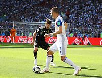 Johann Gudmundsson (Island, Iceland) gegen Nicolas Tagliafico (Argentinien, Argentina) - 16.06.2018: Argentinien vs. Island, Spartak Stadium Moskau