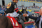 Shaman Ghost with Rafael Hernandez at the Queen's Plate at Woodbine Race Course in Toronto on July, 05, 2015.