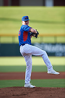 AZL Cubs 2 starting pitcher Davidjohn Herz (55) pitches during his professional debut in an Arizona League game against the AZL Reds on July 23, 2019 at Sloan Park in Mesa, Arizona. (Zachary Lucy/Four Seam Images)