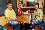 Enjoying the evening in the Mall Tavern on Saturday, l to r: Padraig Brosnan, Niall Drumm and Greg Cronin.