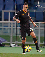 Calcio, Tim Cup: Roma vs Empoli. Ottavi di finale a gara unica. Roma, stadio Olimpico, 20 gennaio 2015.<br /> Roma's Jose' Holebas in action during the Italian Cup round of 16 football match between Roma and Empoli at Rome's Olympic stadium, 20 January 2015.<br /> UPDATE IMAGES PRESS/Riccardo De Luca