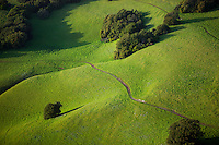 aerial photograph rolling hills Sonoma County, California