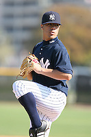 March 17th 2008:  Manny Barreda of the New York Yankees minor league system during Spring Training at Legends Field Complex in Tampa, FL.  Photo by:  Mike Janes/Four Seam Images