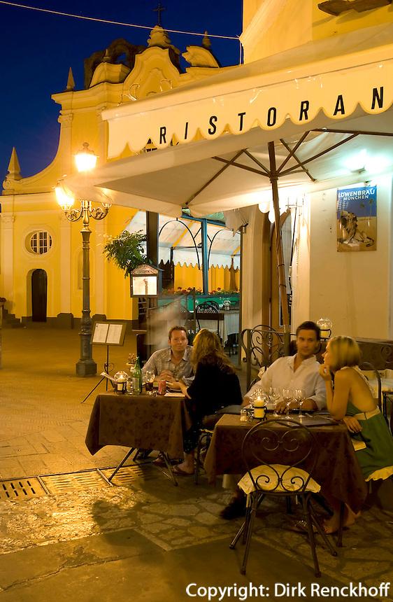 Restaurant bei Santa Sofia in Anacapri, Capri, Italien