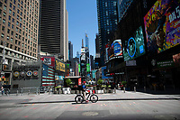 NEW YORK, NEW YORK - JUNE 08: General view of Times Square on June 08, 2020 in New York City. The City began first phase of reopening after nearly three months of shutdown , also Protests continue over black Americans abuse by the Police (Photo by Kena Betancur/VIEWpress via Getty Images)