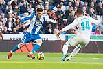 Real Madrid Carlos Henrique Casemiro and R.C. Deportivo Lucas Perez during La Liga match between Real Madrid and R. C. Deportivo at Santiago Bernabeu Stadium in Madrid, Spain. January 18, 2018. (ALTERPHOTOS/Borja B.Hojas)