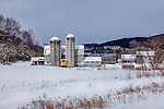 A wintry farm in South Randolph, VT, USA