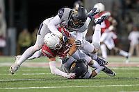 PULLMAN, WA - November 12, 2016: Cal Bears Football team vs. the Washington State University Cougars at Martin Stadium. Final score, Cal Bears 21, Washington State University Cougars 56.