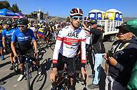TUNJA - COLOMBIA, 11-02-2020: Fabio Aru(ITA) UAE TEAM EMIRATES, previo a la salida de la segunda etapa del Tour Colombia 2.1 2020 con un recorrido de 152,4 km, que se corrió entre Paipa y Duitama, Boyacá. / Fabio Aru (ITA) UAE TEAM EMIRATES prior the second stage of 152,4 km as part of Tour Colombia 2.1 2020 that ran between Paipa and Duitama, Boyaca.  Photo: VizzorImage / Darlin Bejarano / Cont