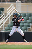 Tyler Sullivan (5) of the Kannapolis Intimidators at bat against the Lakewood BlueClaws at Kannapolis Intimidators Stadium on May 8, 2016 in Kannapolis, North Carolina.  The Intimidators defeated the BlueClaws 3-2.  (Brian Westerholt/Four Seam Images)