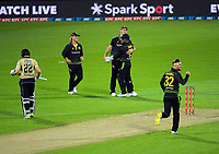 Australia's Mitch Marsh catches Kane Williamson off Glenn Maxwell during the 4th international men's T20 cricket match between the New Zealand Black Caps and Australia at Sky Stadium in Wellington, New Zealand on Friday, 5 March 2021. Photo: Dave Lintott / lintottphoto.co.nz