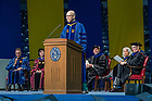 July 10, 2021; Commencement speaker Darrell Bradford, president of 50CAN delivers his address during the 2021 Commencement Ceremony of the University of Notre Dame's Alliance for Catholic Education (ACE) in the Purcell Pavilion of the Joyce Center. (Photo by Barbara Johnston/University of Notre Dame)