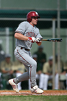 February 22, 2009:  Third baseman Cody Webber (18) of Indiana University during the Big East-Big Ten Challenge at Naimoli Complex in St. Petersburg, FL.  Photo by:  Mike Janes/Four Seam Images
