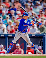 7 March 2019: New York Mets outfielder Brandon Nimmo in action during a Spring Training Game against the Washington Nationals at the Ballpark of the Palm Beaches in West Palm Beach, Florida. The Nationals defeated the visiting Mets 6-4 in Grapefruit League, pre-season play. Mandatory Credit: Ed Wolfstein Photo *** RAW (NEF) Image File Available ***