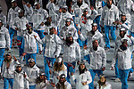 Olympic team of Norway during the parade of nations at the Opening ceremony of the 2014 Sochi Olympic Winter Games at Fisht Olympic Stadium on February 7, 2014 in Sochi, Russia. Photo by Victor Fraile / Power Sport Images