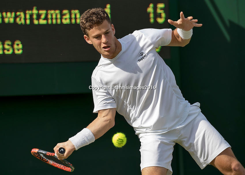 London, England, 27 june, 2016, Tennis, Wimbledon, Diego Schwartzman (ARG)<br /> Photo: Henk Koster/tennisimages.com