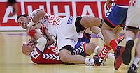 during men`s EHF EURO 2012 championship semifinal handball game between Serbia and Croatia in Belgrade, Serbia, Friday, January 27, 2011.  (photo: Pedja Milosavljevic / thepedja@gmail.com / +381641260959)