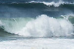 Point Reyes National Seashore, California; large waves crashing near the shoreline of Point Reyes Beach North