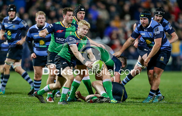 Wednesday 2nd January 2019   MMW Junior Cup Final 2019<br /> <br /> Lewis Finlay during the  2019 MMW Ulster Junior Cup Final between Ballynahinch RFC and Dromore RFC at Kingspan Stadium, Ravenhill Park, Belfast, Northern Ireland. Photo by John Dickson / DICKSONDIGITAL