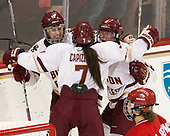 Makenna Newkirk (BC - 19), Kristyn Capizzano (BC - 7), Caitrin Lonergan (BC - 11) - The Boston College Eagles defeated the visiting Boston University Terriers 5-3 (EN) on Friday, November 4, 2016, at Kelley Rink in Conte Forum in Chestnut Hill, Massachusetts.The Boston College Eagles defeated the visiting Boston University Terriers 5-3 (EN) on Friday, November 4, 2016, at Kelley Rink in Conte Forum in Chestnut Hill, Massachusetts.