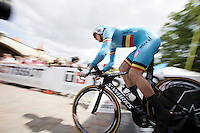 Yves Lampaert (BEL/Etixx-QuickStep) off the start ramp<br /> <br /> Elite Men TT<br /> UCI Road World Championships / Richmond 2015