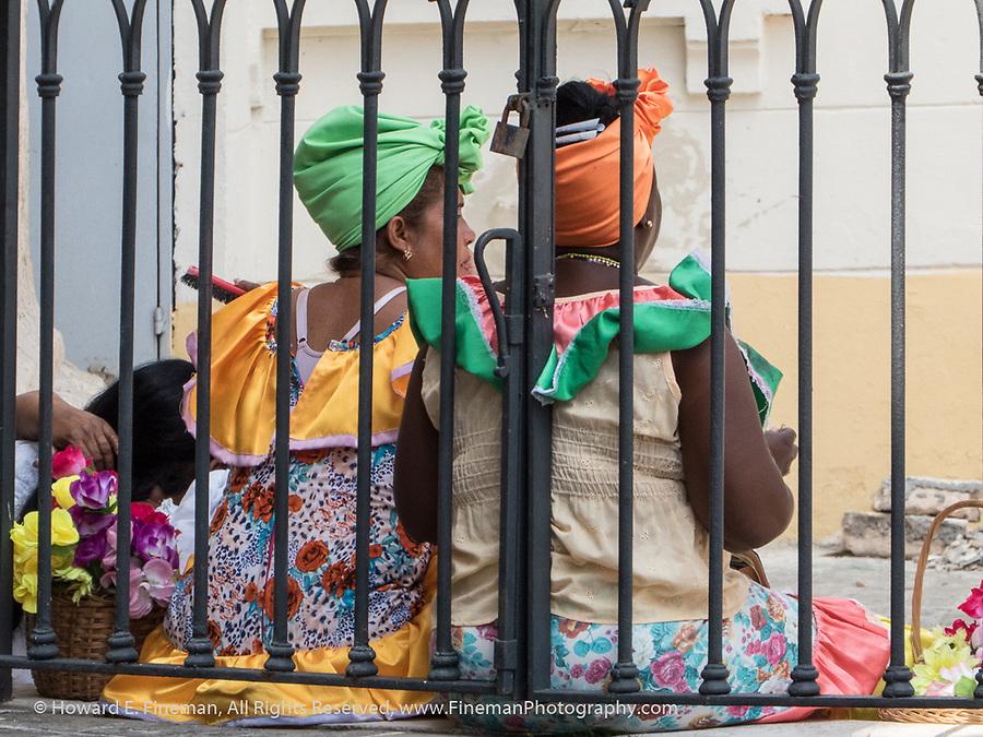 Traditionally Costumed Ladies, Old Havana