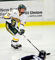 6 December 2009: University of Vermont Catamount defenseman Josh Burrows, a Junior from Prairie Grove, IL, in action against the University of New Hampshire Wildcats at Gutterson Fieldhouse in Burlington, Vermont. The Wildcats defeated the Catamounts 5-2 in the Hockey East matchup. Mandatory Credit: Ed Wolfstein Photo