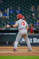 Monroe Moll (13) of the Louisiana Ragin' Cajuns at bat against the Kentucky Wildcats in game seven of the 2018 Shriners Hospitals for Children College Classic at Minute Maid Park on March 4, 2018 in Houston, Texas.  The Wildcats defeated the Ragin' Cajuns 10-4. (Brian Westerholt/Four Seam Images)
