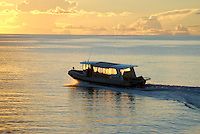 Dive Boat at Truk Lagoon, Micronesia