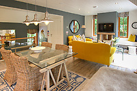 BNPS.co.uk (01202) 558833. <br /> Pic: Bidwells/BNPS<br /> <br /> Pictured: Dining area and lounge.<br /> <br /> Better than a gravy boat...<br /> <br /> A striking country house built by a bishop as a wedding gift for his son is on the market for offers over £2m.<br /> <br /> Dunbeg House sits in an incredible position on the bank of a loch with stunning panoramic water and mountain views.<br /> <br /> The impressive property not only includes the five-bedroom main house, but also a two-bedroom cottage that has been run as a successful holiday let and over four acres of woodland garden.