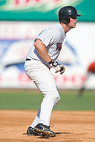 Winston-Salem catcher Cole Armstrong takes his lead off of second base in game action versus the Frederick Keys at Ernie Shore Field in Winston-Salem, NC, Thursday, June 15, 2006.  Winston-Salem defeated Frederick 1-0 in game 1 of a double-header.