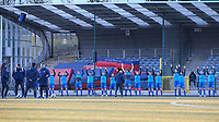\Genk players pictured during the warm up before a female soccer game between FC Femina White Star Woluwe and KRC Genk on the third matchday of play off 2 in the 2020 - 2021 season of Belgian Scooore Womens Super League , Friday 23 th of April 2021  in Woluwe , Belgium . PHOTO SPORTPIX.BE | SPP | SEVIL OKTEM