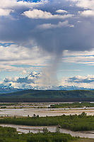 Summer cloud and weather drama above the Tanana river near Delta Junction, Alaska