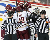 Overturned - Dmitry Antipin, Colin White (BC - 18), JD Dudek (BC - 15), Hayden Hawkey (PC - 31), Bob Bernard - The Boston College Eagles defeated the visiting Providence College Friars 3-1 on Friday, October 28, 2016, at Kelley Rink in Conte Forum in Chestnut Hill, Massachusetts.The Boston College Eagles defeated the visiting Providence College Friars 3-1 on Friday, October 28, 2016, at Kelley Rink in Conte Forum in Chestnut Hill, Massachusetts.