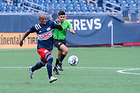 FOXBOROUGH, MA - JULY 4: Michel #48 of the New England Revolution II during a game between Greenville Triumph SC and New England Revolution II at Gillette Stadium on July 4, 2021 in Foxborough, Massachusetts.