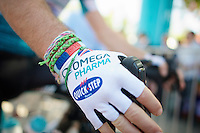 wrist band fun with Mark Cavendish (GBR/OPQS)<br /> <br /> Tour of Turkey 2014<br /> stage 3