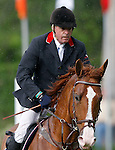 Britain's jockey  with the horse Verdi during 102 International Show Jumping Horse Riding, Gran Prix of Madrid-Volvo Throphy.May, 19, 2012. (ALTERPHOTOS/Acero)