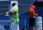 Donald Young loses at the Australian Open to Kei Nishikori, 7-5, 6-1, 6-0 on January 18, 2014 in Melbourne, Australia.