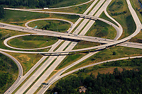 Aerial photo of Charlotte I485 and I77 highways taken May 2008.